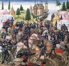 The Battle of Hastings: a later highly misleading medieval representation Military Art, Military History, English Army, Renaissance, Norman Conquest, High Middle Ages, Historia Universal, William The Conqueror, Medieval Art