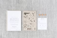 Hilary & David - Paper & Poste Custom Invitation Custom Stationery, Custom Invitations, Invites, Rsvp, Paper, David