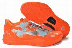New Nike Zoom Kobe 8 Orange Metallic Silver Basketball Shoes Shop Kd 6 Shoes, Nike Kobe Shoes, Air Jordan Shoes, Cheap Shoes, Kevin Durant Basketball Shoes, Kevin Durant Shoes, Nike Basketball Shoes, Sports Shoes, Nike Lebron