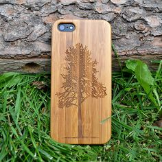 Wood iPhone 5/5S Case  Tree Design Wood iPhone Case  by tmbrwood
