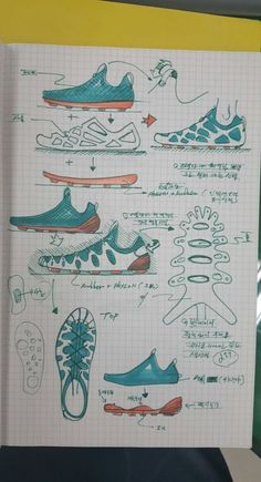 Referencias_Bocetos Trendy Sportschuhe Sketch Industrial Design Ideen Make Your Property Stand O Tag Design, Smart Design, Sketch Design, Design Model, Sneakers Sketch, Tinker Hatfield, Industrial Design Sketch, Shoe Sketches, Sports Shoes