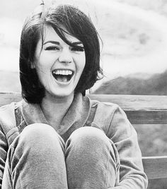 Natalie Wood - love this rare capture of a true laughing smile