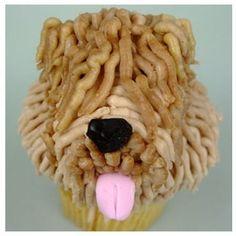 Wheaten terrier cupcake