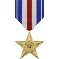 Silver Star Anodized Full Size Medal - Online Army Navy Store - Military Clothing, Gear and Military Camouflage, Military Gear, Military History, Army Navy Store, Army & Navy, The Silver Star, Silver Stars, Medan, Air Force Medals