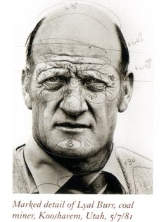 Richard Avedon: Marked detail of Lyal Burr, coal miner, Koosharem, Utah, 5/7/81