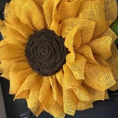 Sunflower Wreath Yellow Burlap Sunflower Wreath Burlap Flower Wreath Fall Wreath Summer Wreath Front Door Wreath Sunflower Decor