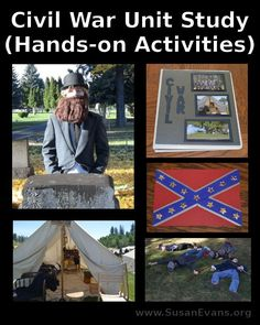 Civil War Unit Study: Hands-on Activities - http://susanevans.org/blog/civil-war-unit-study/ (unit 3)