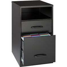 Office Designs  Steel 2-drawer File Cabinet with Shelf (€55) ❤ liked on Polyvore featuring home, furniture, storage & shelves, file cabinets, track shelving, black filing cabinet, steel shelves, 2 drawer black file cabinet and black shelf