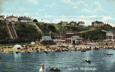 Postcard, of, the, the lift Folkestone . Posted 1905.
