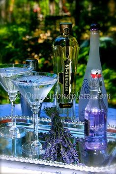 Once Upon a Plate The Recipes: Lavender Blossom Martini