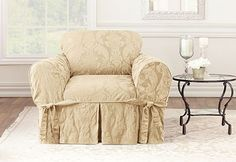 Surefit's Matelasse Damask One Piece Slipcovers