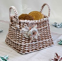 МК http://handmade39.ru/2017/01/03/basket-cookie/
