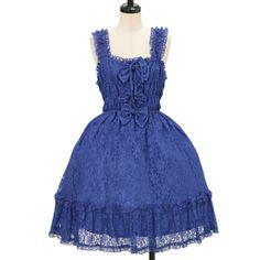 ♡ metamorphose temps de fille ♡ Lace shirring jumper skirt http://www.wunderwelt.jp/products/detail9266.html ☆ ·.. · ° ☆ How to buy ☆ ·.. · ° ☆ http://www.wunderwelt.jp/user_data/shoppingguide-eng ☆ ·.. · ☆ Japanese Vintage Lolita clothing shop Wunderwelt ☆ ·.. · ☆ #lolitafashion