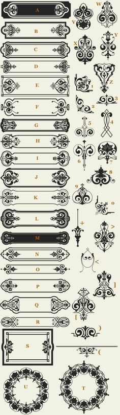 Letterhead Fonts / LHF Vintage Sign Elements / Classic Panels & Borders
