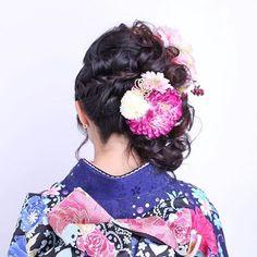 成人式ヘア #成人式ヘア #サイドアップ #ヘア #ヘアアレンジ #髪飾り #オシャレさんと繋がりたい