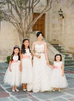 Bride and Flower Girls | photography by http://www.ktmerry.com/  | wedding planning by http://www.nicolemarieevents.com/ | floral design by http://www.mitsukofloral.com/
