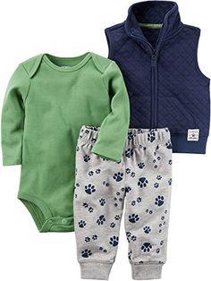 GAP BabyBoy Long Sleeve Bodysuit Soft Pants 100/%Cotton White Green 12-18 18-24