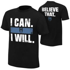 """Roman Reigns """"I Can I Will"""" Authentic T-Shirt - WWE Shop"""
