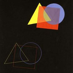 Eugen Batz. Exercise for colour-theory course taught by Vasily Kandinsky. 1929–30. Tempera over pencil on black paper. Bauhaus-Archiv Berlin
