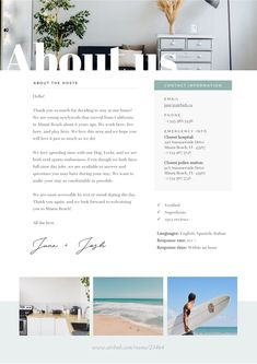 Airbnb Welcome Book Template by JannaLynnCreative on book hotel Airbnb Rentals, Vacation Home Rentals, Cancun, Location Saisonnière, Beach Condo, Rental Property, Rental Homes, Bed And Breakfast, Air Bnb