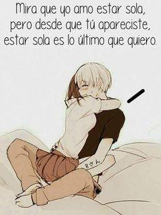 Love phrase I like sunny but I like you more - anime quotes - Health Sad Anime, Otaku Anime, Anime Love, Kawaii Anime, Cute Love, Love You, My Love, Frases Pro Crush, Frases Love
