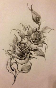ideas tattoo hip rose tat for 2019 Rose Drawing Tattoo, Tattoo Sketches, Tattoo Drawings, Body Art Tattoos, Art Sketches, Sleeve Tattoos, Tattoo Hip, Feather Tattoos, Flower Tattoos