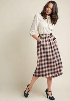 ModCloth Alice's Pig Dawn's Django Tartan Skirt Scottish Kilt Midi US12 Multi  #AlicesPig #Aline #anyoccasion