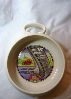 Heritage Soup Bowl Mug Watkins Vintage Big W Thread Cord Tires Advertising  #HeritageCollection