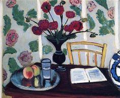 Blumenstrauß der Dahlien und Weißbuch - Henri Matisse