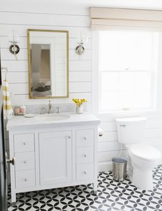 Patterned Floors and Shiplap Walls || Studio McGee