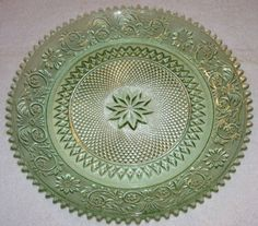 Tiara Glass Sandwich Plate