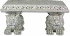 Outdoor Furniture - Lawn Ornament - Gargoyle - Bench Resin - 15in H x 19n W x 30in L