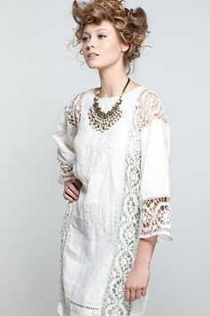 Gorgeous lace tops and dresses from Anthropologie Bohemian Mode, Boho Chic, Bohemian Clothing, Bohemian Gypsy, Boho Style, Boho Fashion, Fashion Dresses, Fashion Design, Woman Dresses