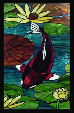Koi #stained #stain #glass #art