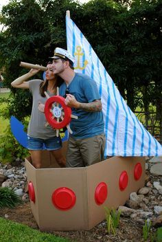 Kids end - we can add a few props (that won't walk) to the boats. Cute photo opp!