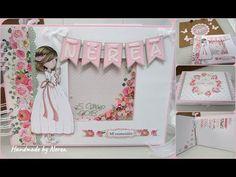 Álbum firmas + fotos para comunión - Versión niña (Dayka) - YouTube Baby Girl Scrapbook, Wedding Hands, Girls Album, Mini Albums Scrap, Diy And Crafts, Paper Crafts, Junk Art, Album Design, First Communion