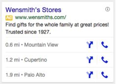 AdWords Now Shows Up To 3 Business Locations In Google Mobile Search Ads Location extensions can trigger multiple listings based on users' proximity.