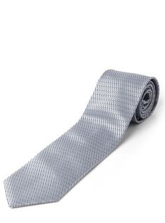 Blue and Silver Geometric Design Tie
