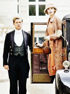 Jimmy and Lady Edith of Downton Abbey