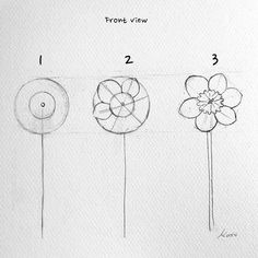 Korean Artist Uploads Step By Step Tutorials On How To Draw Beautiful Flowers – Easy drawings Easy Flower Drawings, Flower Art Drawing, Flower Drawing Tutorials, Flower Sketches, Watercolor Drawing, Easy Drawings, Art Tutorials, Drawing Sketches, Easy Sketches