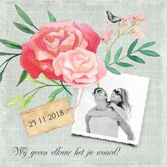 #trouwkaart #trouwuitnodiging #trouwen #bruiloft #wedding #bruid #huwelijk #bruidspaar #bridetobe #bloemen #vintage