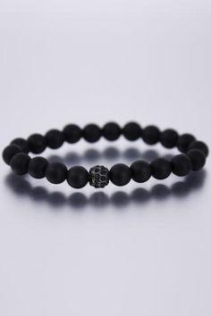 DYOH Swarovski Crystal Inset & 8 Mm Bead Bracelet