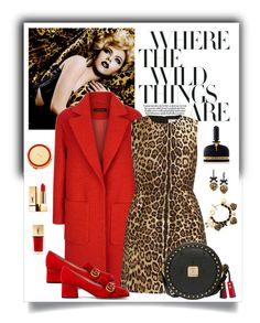 """Red Valentino Leopard Jacquard Dress"" by romaboots-1 ❤ liked on Polyvore featuring Tom Ford, Jaeger, RED Valentino, MCM, Gucci, Betsey Johnson, Yves Saint Laurent and Kate Spade"