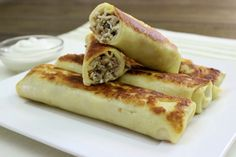 Savory Crepes With Meat Filling - Блинчики с Мясной Начинкой