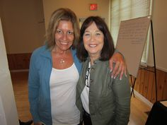 Carol Weiss and me - such a lovely lady!