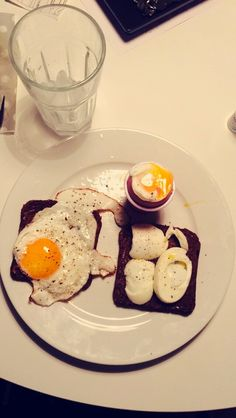 Three different kinds of eggs