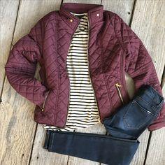 Puffer coat Stripes Denim