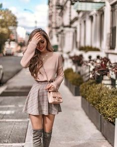 Cute Skirt Outfits, Cute Fall Outfits, Cute Skirts, Winter Fashion Outfits, Mode Outfits, Girly Outfits, Cute Casual Outfits, Look Fashion, Pretty Outfits