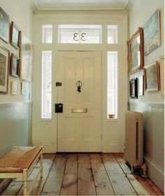 entryway - love the wooden flooring