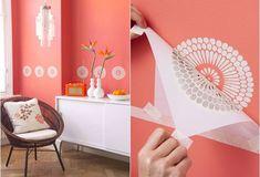 decorare con lo stencil la casa